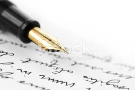 gold pen on hand written letter stock photos freeimages com
