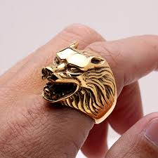 cool jewelry rings images Invicta jewelry mens wolf head ring jpg