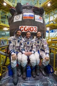 expedition 52 53 crew members and the soyuz ms 05 spacecraft nasa