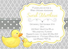 duck baby shower invitations modern rubber duck baby shower invitation trefoil yellow gray