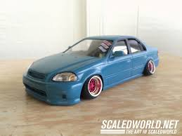 1998 honda civic modified scratch build honda civic sedan scaledworld