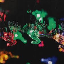 solar powered 24 led multi coloured reindeer string lights kmart