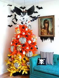 bat and candy corn covered spooky tree candy corn halloween