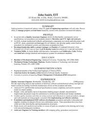 Best Engineering Resume Samples by Sensational Design Ideas Quality Engineer Resume 14 Quality