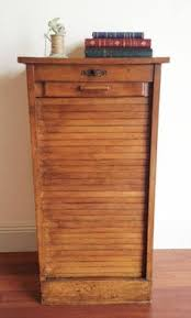 Antique Oak File Cabinet F487 Vintage French Oak Filing Cabinet With Tambour Door