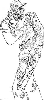 chucky coloring page freddy krueger coloring pages