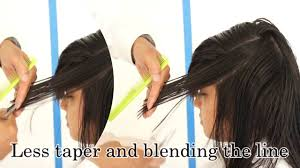 how to taper hair step by step haircut long layer haircut with bang 4 left side taper 4