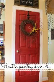 How To Paint An Interior Door by How To Paint Your Pantry Door Red Debbiedoos