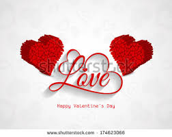 Design For Valentines Card Vector Happy Valentines Day Greeting Card Stock Vector 568193608