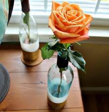 Diy Wine Bottle Vases Diy Paint Dipped Wine Bottle Vases