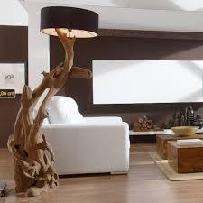 Wohnzimmerlampe Holz Standlampe Riaz Xl 200 Cm Aus Teakholz Liht Pinterest