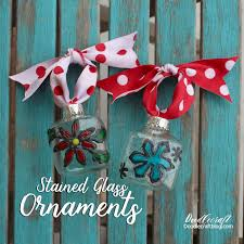 doodlecraft faux stained glass ornaments