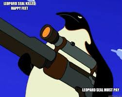 Happy Feet Meme - leopard seal killed happy feet leopard seal must pay sap no more