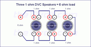 lovable subwoofer wiring diagrams three 1 ohm dual voice coil