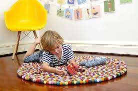 Colorful Kids Rugs by Original Multi Color Felt Ball Rug Rosenberryrooms Com