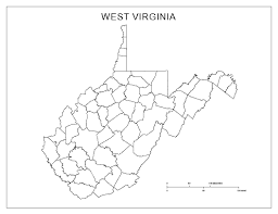 West Virginia Road Map by West Virginia Blank Map