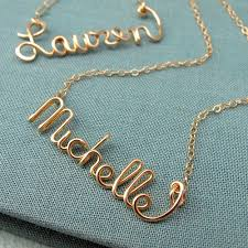 gold script name necklace custom 14k gf script name necklace personalized bridal party