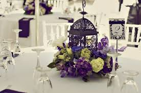 How To Decorate A Birdcage Home Decor 37 Trendy Purple Wedding Table Decorations