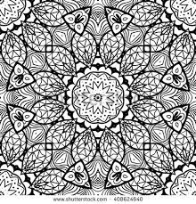coloring semless zendoodle vector stock vector