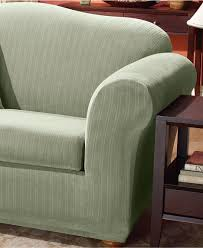 Sofa Slipcovers For Sectionals by Living Room Sure Fit Stretch Pinstripe Piece T Cushion Slipcover