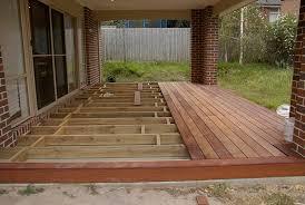 building a floating deck concrete slab porches outside