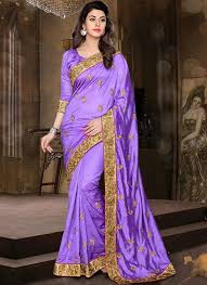 Buy Violet Embroidered Art Silk 104 Best Saree Purple Images On Pinterest Indian Fashion