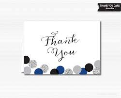 thank you card for silver glitter polka dots thank you card printable note cards