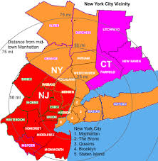map of nyc areas new york city and newark metro area