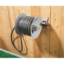 roughneck 163150 wall mount garden hose reel myreels com