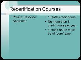 pesticide applicator recertification oregon department of