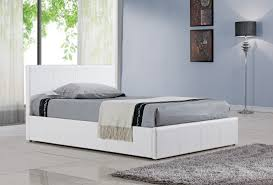 White Small Double Bed Frame by Bonsoni Simple Style Double Berlin Ottoman Bed Frame White 4ft6