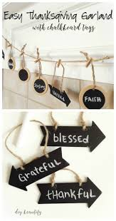 thanksgiving chalkboard art easy thanksgiving garland with chalkboard tags diy beautify