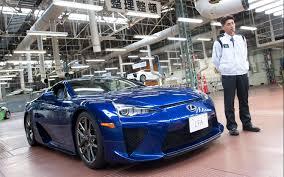 lexus lfa blue inside lexus lfa works motor trend