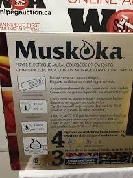 muskoka urbana curved wall mount electric fireplace lot 983