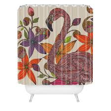Flamingo Shower Curtains Valentina Ramos The Flamingo Shower Curtain Deny Designs