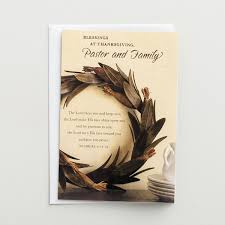 thanksgiving devotional stories thanksgiving pastor and family blessings 1 premium card