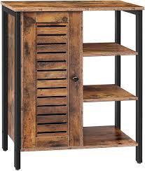 how to make storage cabinets hoobro storage cabinet 2 adjustable shelves 3 open shelves floor standing cabinet side cabinet multifunctional in living room hallway
