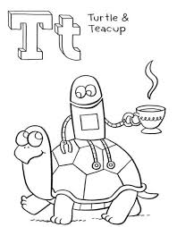 turtle and teacup alphabet coloring page alphabet coloring pages