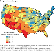 Us Drought Map Usda Ers Farmers Employ Strategies To Reduce Risk Of Drought Damages