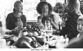 family dinner black and white stock photos images alamy