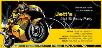 birthday invitations motorbike