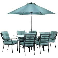 patio table and chairs with umbrella hole outdoor dining furniture with umbrella black steel 7 piece outdoor