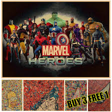 online buy wholesale wall stickers superman from china wall superheroes superman hero art poster vintage retro movie antique poster wall sticker home decora china