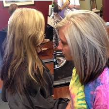 blonde bobbed hair with dark underneath hair blonde with brown underneath highlights short long