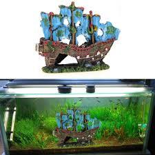 aquarium ornament wreck sailing boat boat idea pinterest