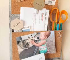 diy cork message board and wall mail organizer fiskars