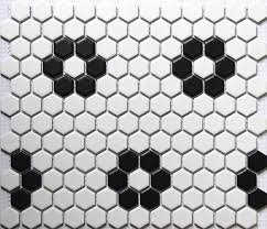 aliexpress com buy black white hexagonal ceramic mosaic tile