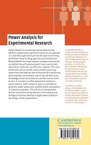 power analysis for experimental research a practical guide for