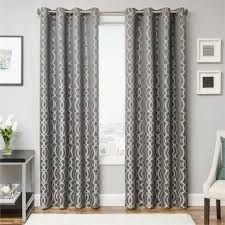Pewter Curtains Exhale Drapery Curtain Panel In Pewter Grey Color With Modern
