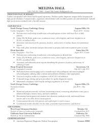 ultrasound resume diagnostic sonographer resume sles thumbnail 4